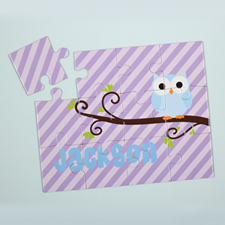 Lavender Owl Personalised Kids Puzzle