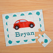 Car Personalised Kids Puzzle