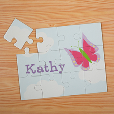 Butterfly Personalised Kids Puzzle