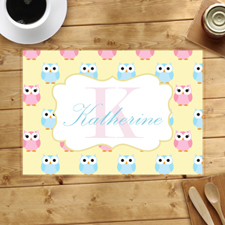 Personalised Owl Placemats