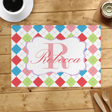 Personalised Colourful Square Placemats