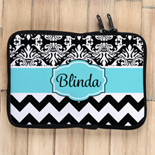 Chevron And Floral Personalised Ipad Mini Sleeve