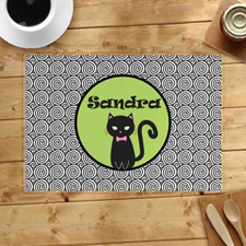 Personalised Halloween Cat Placemats