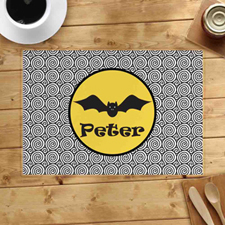 Personalised Halloween Bat Placemats