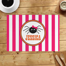 Personalised Halloween Spider Placemats