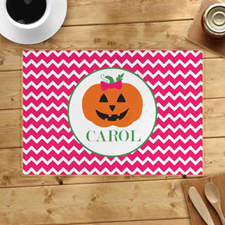 Personalised Pumpkin Girl Placemats