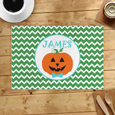 Personalised Pumpkin Boy Placemats