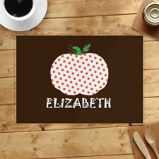 Personalised Polka Dots Pumpkin Placemats