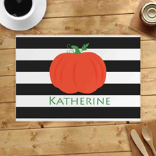 Personalised Stripes Pumpkin Placemats