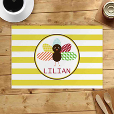 Personalised Turkey Placemats