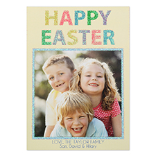 Glitter Easter Personalised Photo Card