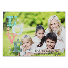Love Glitter Easter Personalised Photo Card