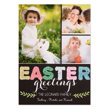 Love Blessing Glitter Personalised Easter Card 5