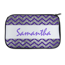 Personalised Neoprene Simple Chevron Cosmetic Bag 6