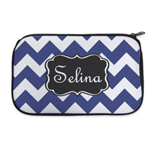 Personalised Neoprene Monogrammed Chevron Cosmetic Bag 6