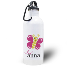 Personalised Photo Butterfly Water Bottle