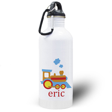 Personalised Photo Train Water Bottle