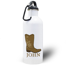 Personalised Photo Boot Water Bottle