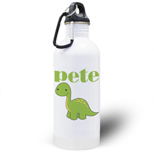 Personalised Photo Dinosaur Water Bottle