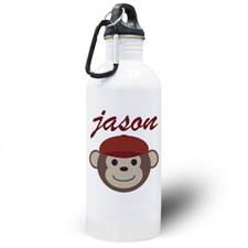 Personalised Photo Monkey Boy Water Bottle