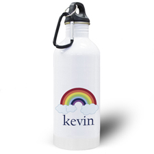 Personalised Photo Rainbow Water Bottle