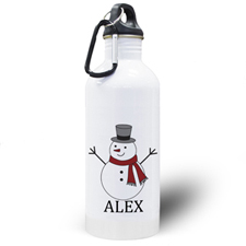 Personalised Photo Snowman Water Bottle