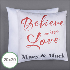 Believe In Love Personalised Pillow 20