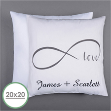 Infinity Love Personalised Pillow 20