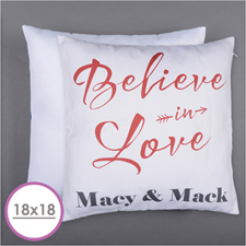 Believe In Love Personalised Pillow Cushion (18