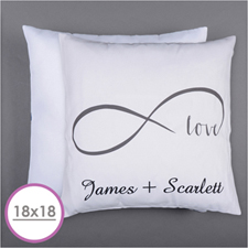 Infinity Love Personalised Pillow Cushion (18