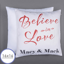 Believe In Love Personalised Pillow 16