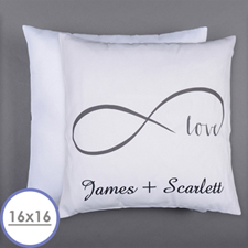 Infinity Love Personalised Pillow 16