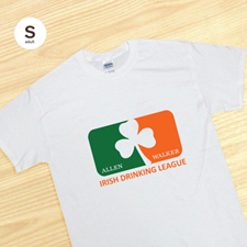 Personalised Irish Drinking League, White T Shirt