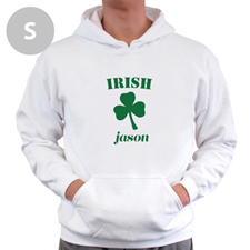 Personalised Irish, White Hoodie Sweatshirt