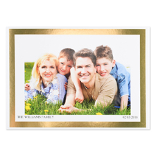 Create Your Own Gold Foil Frame Personalised Photo Card, 5