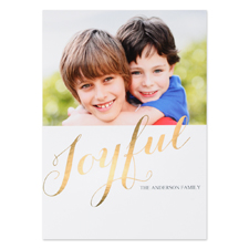 Create Your Own Joyful Personalised Photo Foil Card Gold