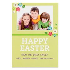 Create Your Own Easter Little Flowers Personalised Photo Card 5