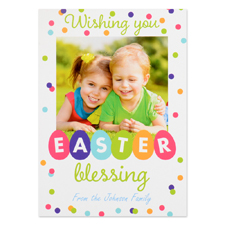 Create Your Own Easter Blessing Personalised Photo Card 5