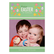 Create Your Own Easter Confetti Personalised Photo Card 5