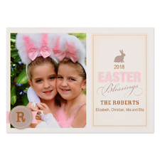 Create Your Own Bunny Blessing Personalised Photo Easter Card 5