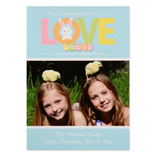 Create Your Own Easter Love Personalised Photo Card 5