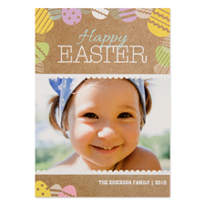 Create Your Own Easter Egg Personalised Photo Card 5