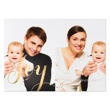 Create Your Own Joy Two Collage Personalised Photo Foil Card Gold Card Invites