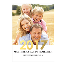 Create Your Own Foil Gold Personalised Photo New Year Card Card Invites