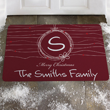 Create Your Own Merry Red Christmas Door Mat