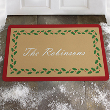 Create Your Own Christmas Flower Door Mat