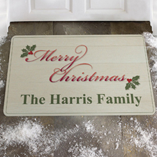 Create Your Own Merry Christmas Door Mat