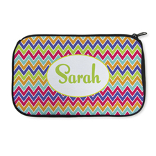 Personalised Neoprene Colourful Chevron Cosmetic Bag 6