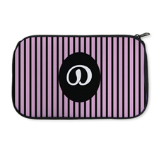 Personalised Neoprene Pink Strip Cosmetic Bag 6