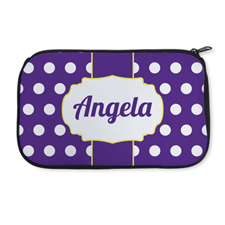 Personalised Neoprene Large Dots Cosmetic Bag 6